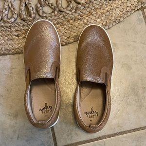 Monkey Feet Shimmer Slip On Sneakers
